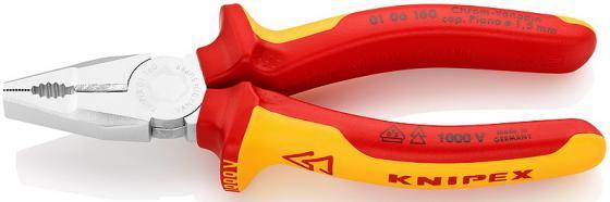Пассатижи KNIPEX 0302160 160мм комбинированные, промышленные, ручки с двухцв многокомп чехлами пассатижи knipex kn 0302160