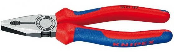 Пассатижи KNIPEX 0302180 180мм ручки с двухцветными многокомпонентными чехлами пассатижи knipex kn 0302180