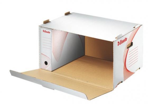 Короб архивный с откидной крышкой BOXY, 510x275x365 мм, белый короб стелла fox 103 откидной красный прозрачный 5ячеек