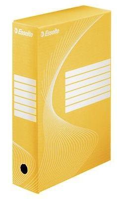 Короб архивный BOXY, 100 мм, 345х100х245 мм, желтый