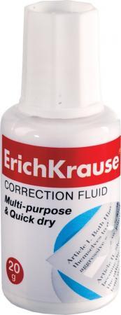 Корректирующая жидкость Erich Krause 13812 20 мл с губкой erich krause угольник clear 60 градусов 225 мм