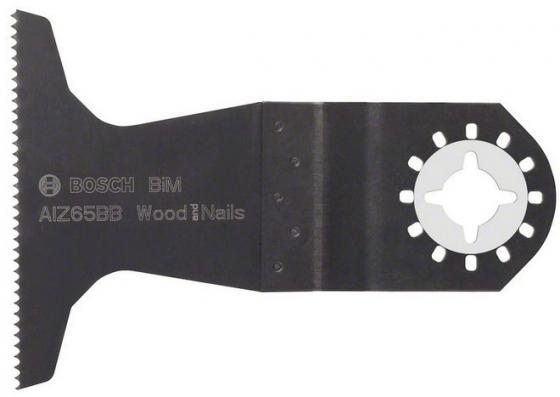 Полотно пильное для МФИ BOSCH AIZ65BB (2.608.661.781) погружное, BiM, 40x65мм, дерево/гвозди полотно пильное для мфи dremel multi max mm470 погружное 19мм дерево