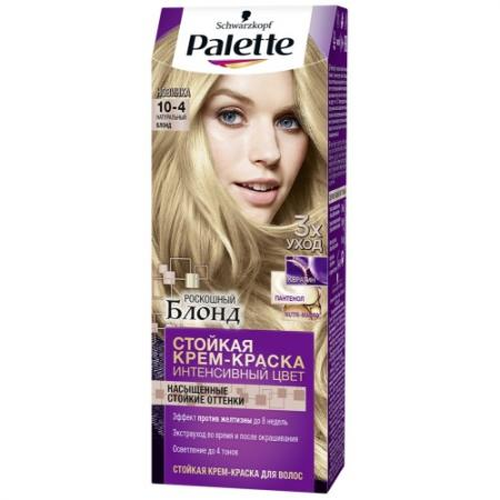 Palette Стойкая крем-краска 10-4 Натуральный блонд 110мл palette стойкая крем краска ki6 медно каштановый 110мл