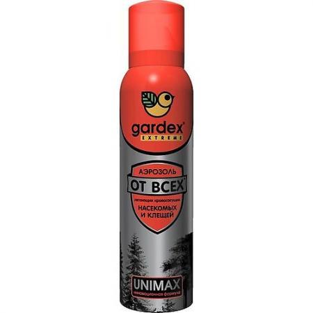 GARDEX Extreme Аэрозоль-репеллент от всех летающих кровососущих насекомых и клещей 150 мл аэрозоль от насекомых combat super spray 500 мл