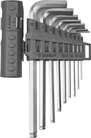 цена на Набор ключей ЗУБР 2745-31-2_z01 эксперт длин.с шариком cr-mo hex 1.5-10мм 9 пред