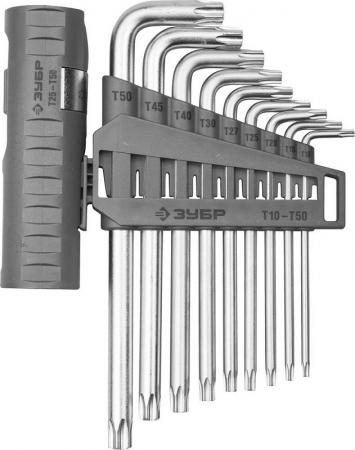 цена на Набор ключей ЗУБР 2745-4-1_z01 эксперт длин.с шариком cr-mo torx т10-т50 9 пред