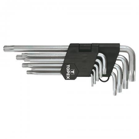 Набор ключей TOPEX 35D961 ключи шестигранные Torx T10-T50 набор 9шт. набор г образных ключей торкс t10 t50 9шт jtc 5354