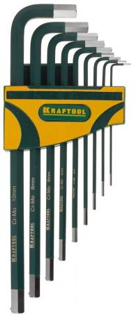 Набор ключей KRAFTOOL 27443-H9 industrie длинные cr-mo сталь(s2) hex1.5-10мм 9шт
