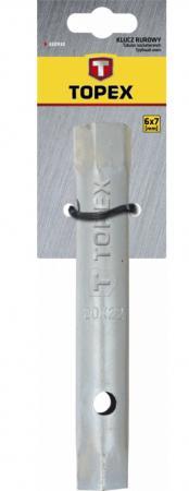 Ключ TOPEX 35D930 торцевой двухсторонний трубчатый 6x7мм клещи topex 16b440