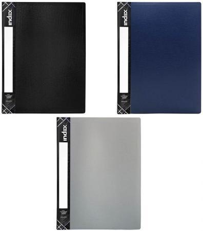 Папка с пружинным скоросшивателем SATIN, карман, форзац, ф.A4, 0,6мм, ассорти
