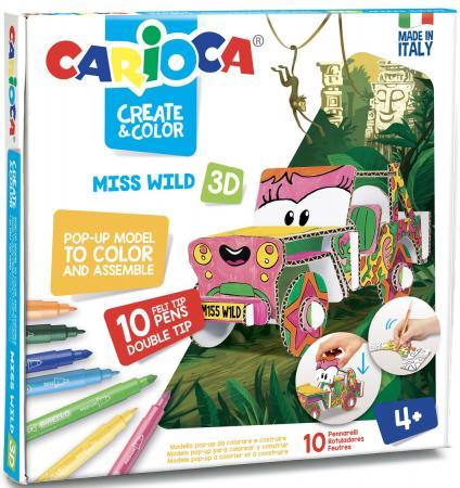 Набор для творчества CARIOCA Машинка от 4 лет carioca набор смываемых восковых карандашей baby 8 цветов