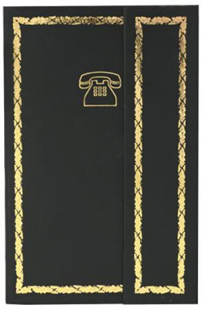 Телефонная книга 7БЦ с магнитным клапаном, черная, с выруб.,лин.,ляссе,192с.,разм.95*145мм