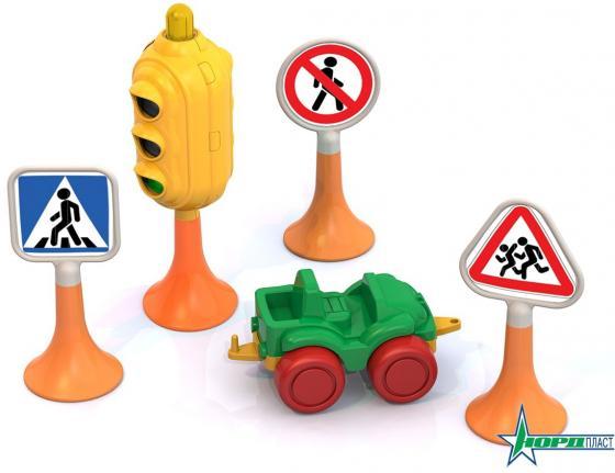 Набор Нордпласт Дорожные знаки №2 3 предмета песочный набор нордпласт снеговик 12