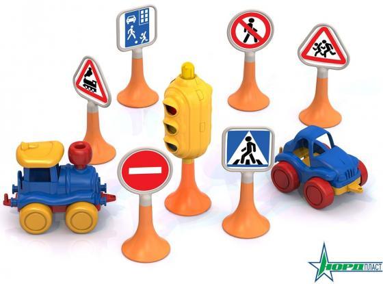 Набор Нордпласт Дорожные знаки №3 6 предметов песочный набор нордпласт снеговик 12