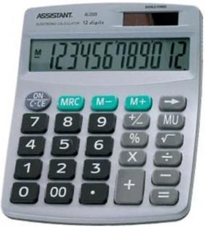 Калькулятор 12-разр., двойное питание, серебристый пластик, разм.152х120х39 мм калькулятор citizen d 316 двойное питание