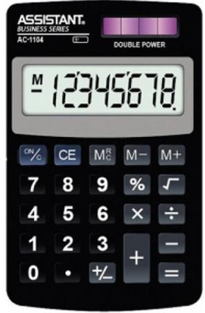 Калькулятор карманный 8-разр., двойное питание, ПВХ обложка, черный пластик, разм.102х61х8 мм цена