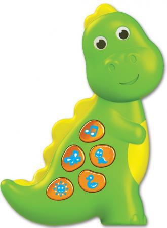 Интерактивная игрушка АЗБУКВАРИК Динозаврик. Чудо-огоньки от 1 года зелёный