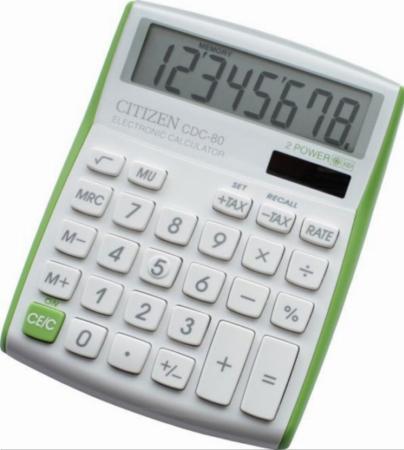 Калькулятор наcтольный 8 разр. 2-е питание TAX MU, 135х108х24 мм, белый/салатовый калькулятор настольный 8 разр 2 е питание tax mu белый красный разм 135х108х24 мм