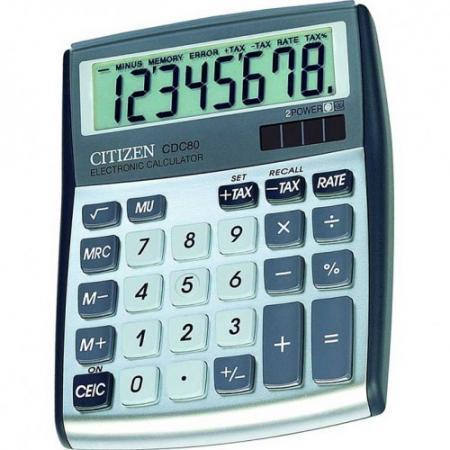 Калькулятор настольный 8 разр. 2-е питание TAX MU, белый/серый, разм. 135х108х24 мм калькулятор настольный 8 разр 2 е питание tax mu белый красный разм 135х108х24 мм
