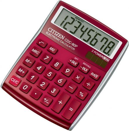 Калькулятор настольный 8 разр. 2-е питание TAX MU, красный, разм. 135х108х24 мм калькулятор настольный 8 разр 2 е питание tax mu белый красный разм 135х108х24 мм