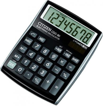 Калькулятор настольный 8 разр. 2-е питание TAX MU, черный, разм. 135х108х24 мм калькулятор настольный 8 разр 2 е питание tax mu белый красный разм 135х108х24 мм