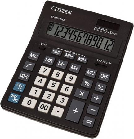 Калькулятор настольн BUSINESSLINE,12 разр., дв. питание, 2 памяти, черный корпус, разм.200*157*35 мм калькулятор 12 разр дв питание дв память черный пластик большой дисплей разм 206х155х35 мм a