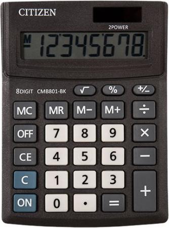 Калькулятор настольн малый BUSINESSLINE, 8 разр., дв. питание, черный корпус, разм.136*100*32 мм калькулятор 12 разр дв питание дв память черный пластик большой дисплей разм 206х155х35 мм a