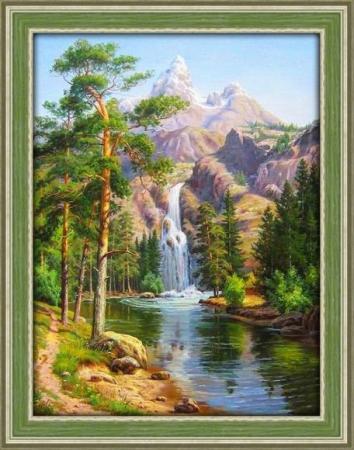 Алмазная живопись Горный водопад 30*40 сотовый телефон sony xperia l1 dual pink