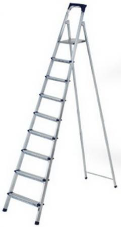 Стремянка BIBER 98109 стальная 9 ступенчатая стремянка стальная fit 65331