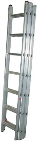 Лестница BIBER 98208 универсальная 3-х секционная 8 ступеней лестница новая высота 3 х секционная бытовая 3x10