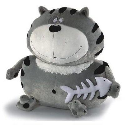 Мягкая игрушка кот Фэнси Кот Бонус белый серый черный плюш мягкая игрушка кот серый 40см