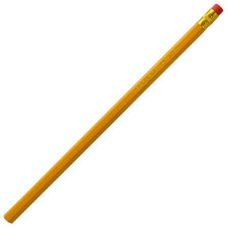 Карандаш чернографитный с ластиком, желтый корпус карандаш чернографитный stabilo стабило swano с ластиком зеленый корпус 4907 010hb