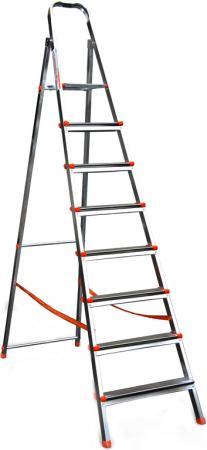 Стремянка RIGGER 100106 8 ступеней раб. высота 3.7м стремянка krause monto solido 8 ступеней 126672