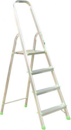Купить Стремянка RIGGER 100204 4 ступени раб. высота 2.7м, алюминий