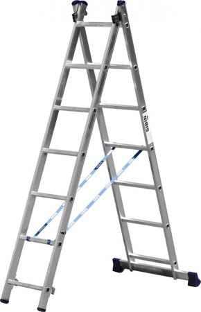 Лестница СИБИН 38823-07 универсальная двухсекционная 7ступеней