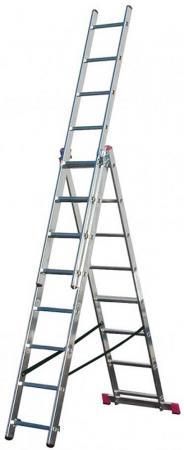 Лестница KRAUSE CORDA KS-010360 3х6 универсальная рабочая высота 4.55м лестница krause corda ks 013392 3х9 универсальная рабочая высота 6 2м
