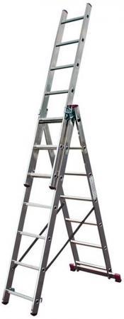 Лестница KRAUSE CORDA KS-010391 3х9 универсальная рабочая высота 6.2м лестница krause corda ks 013392 3х9 универсальная рабочая высота 6 2м