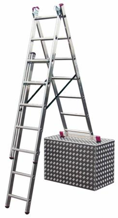 Лестница KRAUSE CORDA KS-013392 3х9 универсальная рабочая высота 6.2м лестница krause corda ks 013392 3х9 универсальная рабочая высота 6 2м