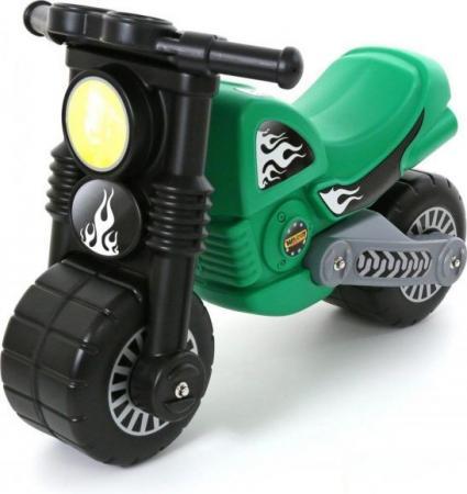 Каталка-мотоцикл Полесье Моторбайк пластик от 2 до 6 лет на колесах зеленый 40480 каталка everflo м002 2 металл от 3 лет на колесах зеленый м002 2