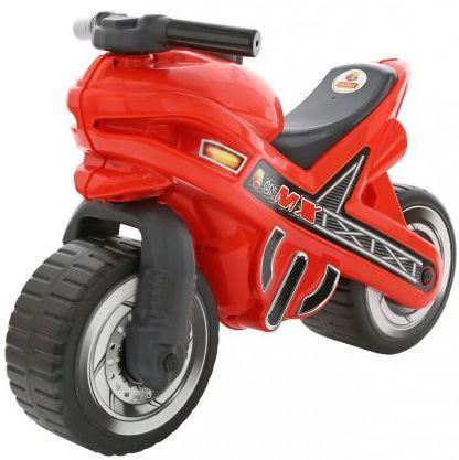 Каталка-мотоцикл Полесье МХ пластик от 3 лет на колесах красный 46512