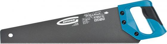 Ножовка GROSS 24107 PIRANHA 500мм 11-12 зубьев на дюйм, по дереву, трехгранная заточка зубьев gross piranha 23620