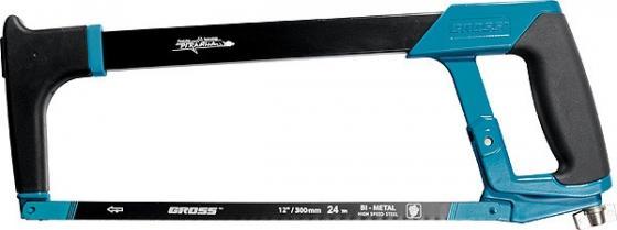 Ножовка GROSS 77600 PIRANHA 300 мм по металлу обрезиненная рукоятка и захват ножницы по металлу 270мм gross piranha 78331
