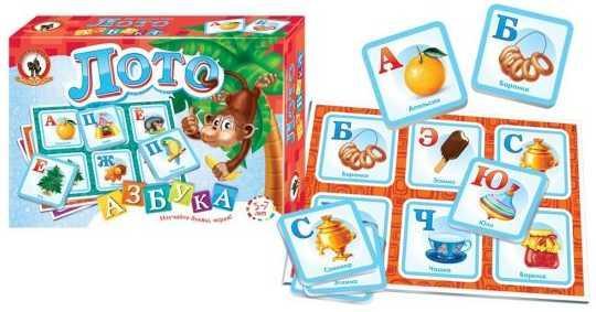 Лото Азбука в картинках французская азбука в картинках