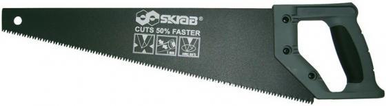 Ножовка SKRAB 20543 по дереву 500мм 3D-заточка 8TPI средний зуб обрезин. пластиковая ручка ножовка kraftool quick u rs 7 8tpi 500мм 15004 50