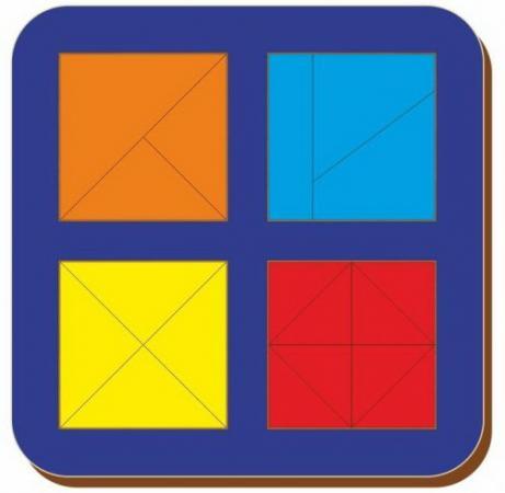 Рамка вкладыш Woodland Сложи квадрат. 4 квадрата. Уровень 2 от 3 лет рамка вкладыш woodland 011103 ёжик