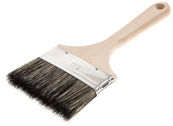 Кисть для антисептиков Hammer Flex 237-015 100х14 (дерев. ручка) кисть для эмалей hammer flex 237 021 50 14 дерев ручка проф
