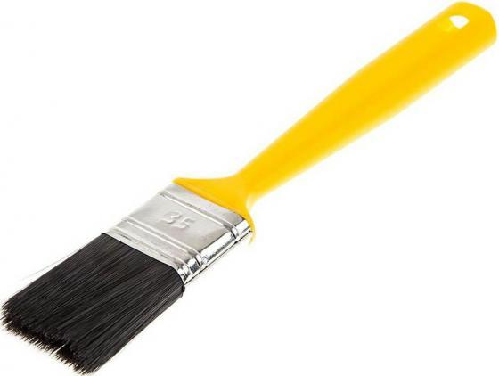 Кисть для эмалей Hammer Flex 237-017 35х12 (пласт. ручка) кисть для эмалей hammer flex 237 021 50 14 дерев ручка проф