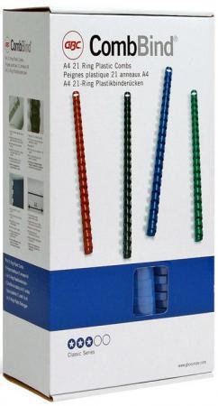 Пружина пластиковая 16 мм, А4, 145 листов,  кольцо, синяя, 100 шт/уп
