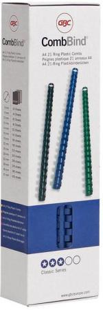 Пружина пластиковая 8 мм, А4, 45 листов, кольцо, синяя, 100 шт/уп