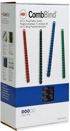 Пружина пластиковая 19 мм, А4, 165 листов, кольцо, черная, 100 шт/уп 5piece 100